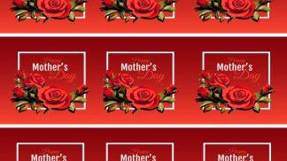 Cake Strip Mum Day Red Rose