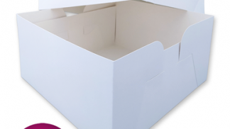 12 Inch White Card Cake Box