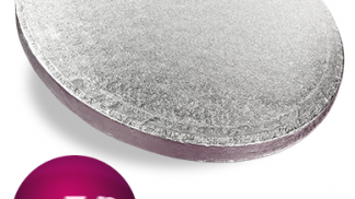 4 Inch Round Silver Cake Drum