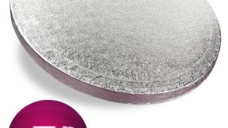 7 Inch Round Silver Cake Drum
