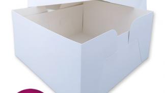 8 Inch White Card Cake Box