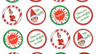 Elf On Shelf x24 Cupcake Toppers