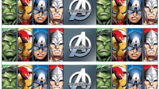 Avengers Assemble Cake Strip