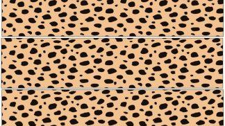 Cheetah Spots Cake Strip