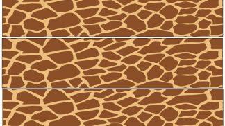 Giraffe Skin Cake Strip