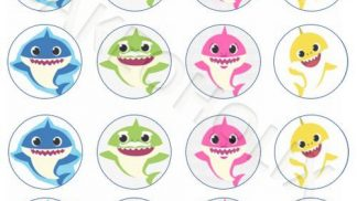 Cakeoholix Baby Shark Cupcake Toppers