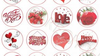 Cakeoholix CupCake Toppers Valentine