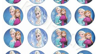 Cakeoholix Disney Frozen Cupcake Toppers