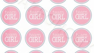 Cakeoholix Gender Reveal Team Girl Cupcake Toppers