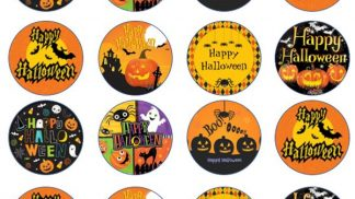 Cakeoholix Halloween Style 1 CupCake Toppers