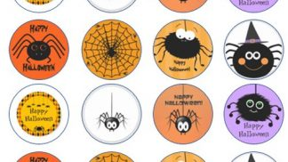 Cakeoholix Halloween Spider CupCake Toppers