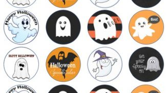Cakeoholix Halloween Ghosts CupCake Toppers