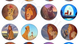 Cakeoholix Lion King Cupcake Toppers
