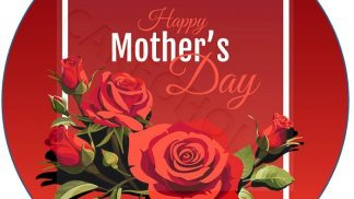 Cakeoholix Happy Mothers Day Cake Toppers Red Rose
