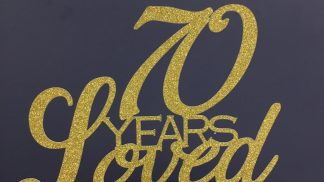Cakeoholix Glitter 70 Years Loved Topper
