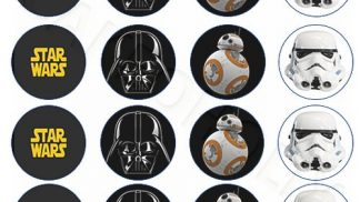 Cakeoholix Star Wars Cupcake Toppers