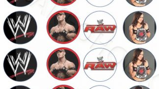 Cakeoholix WWE Cupcake Toppers