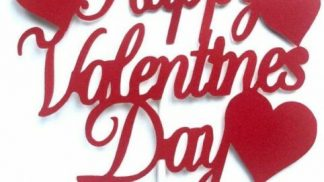 Cakeoholix Glitter Cake Toppers Valentine Day