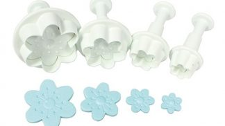 CAKE STAR cherry blossom plunger cutters 4 set