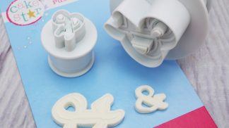 CAKE STAR push easy ampersand plunger cutters set of 2