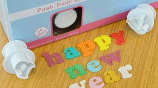 CAKE STAR push easy lower case alphabet plunger cutters - large