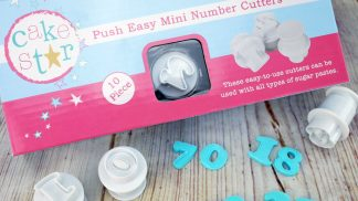 CAKE STAR push easy mini number plunger cutters