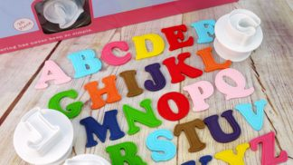 CAKE STAR push easy upper case alphabet plunger cutters - large