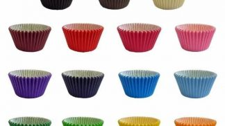 Plain Coloured Cupcake-muffin cases 51 x 38mm 24 pack
