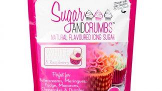 SUGAR & CRUMBS white chocolate & raspberry flavoured icing sugar 500g