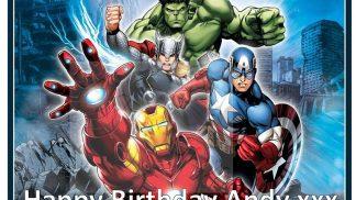 Avengers Rectangle Cake Topper
